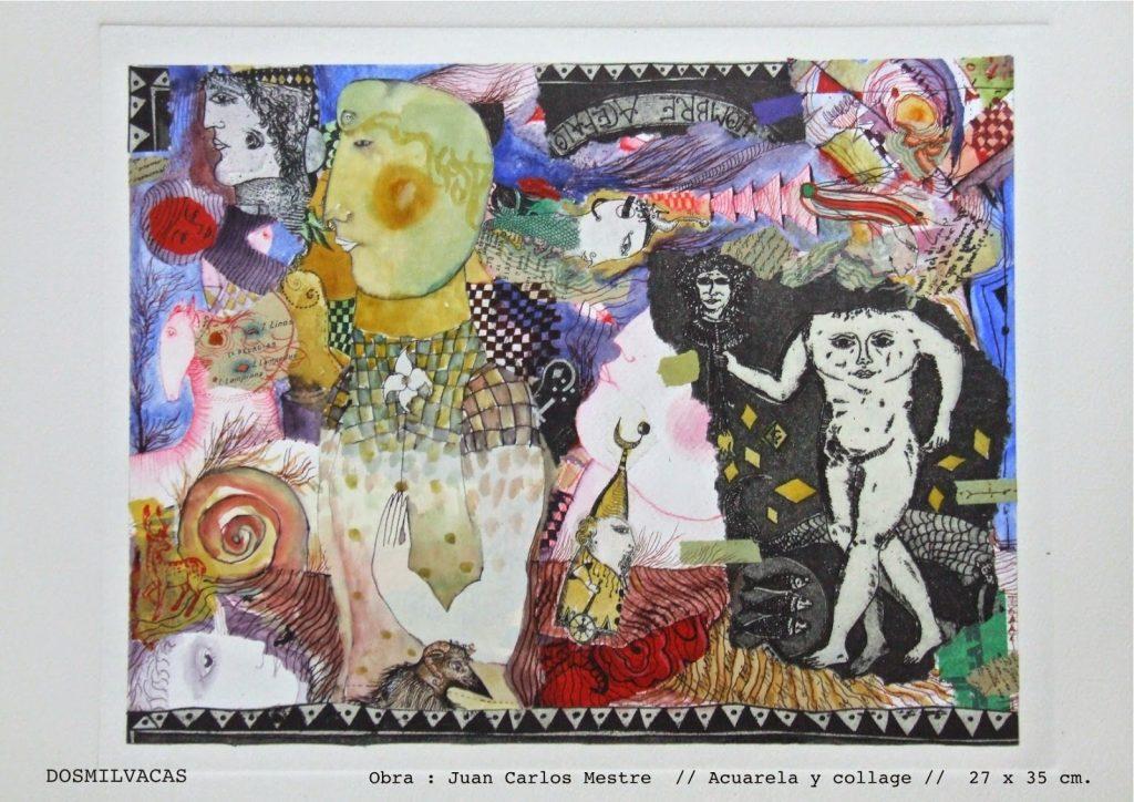 Juan Carlos Mestre // Acuarela y collage // 27 x 35 cm.